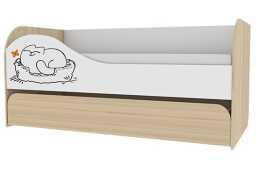 Кровать 2-х уровневая 900.1 Кот (верх 900*1900; низ 800*1800)